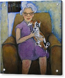 Doris And Maisie Acrylic Print by Cindy Riccardelli