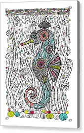Dream Seahorse Acrylic Print by Susan Claire