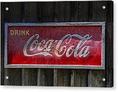 Drink Coca Cola Acrylic Print by Garry Gay