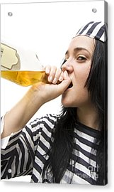 Drinking Detainee Acrylic Print by Jorgo Photography - Wall Art Gallery