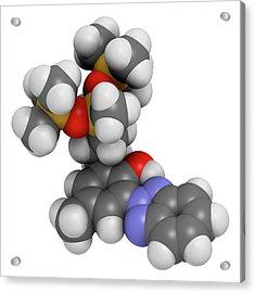 Drometrizole Trisiloxane Molecule Acrylic Print by Molekuul