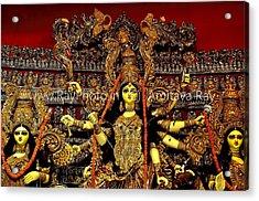 Durga Statue The Hindu Goddess #2 Acrylic Print by Amitava Ray
