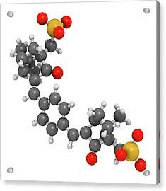 Ecamsule Sunscreen Molecule Acrylic Print by Molekuul