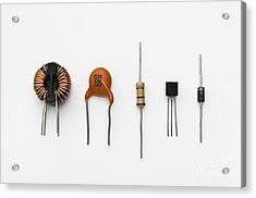 Electronic Components Acrylic Print by GIPhotoStock
