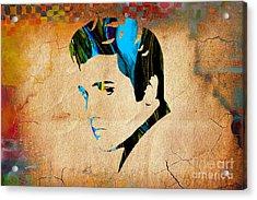 Elvis Presly Wall Art Acrylic Print by Marvin Blaine
