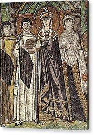 Empress Theodora With Her Court. Ca Acrylic Print by Everett