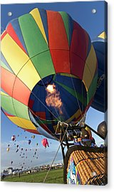 Envelope Inflation At The Albuquerque Acrylic Print by William Sutton
