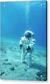Esa Underwater Astronaut Training Acrylic Print by Alexis Rosenfeld
