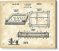 Etch A Sketch Patent 1959 - Vintage Acrylic Print by Stephen Younts
