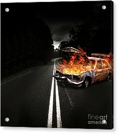 Explosive Car Bomb Acrylic Print by Jorgo Photography - Wall Art Gallery