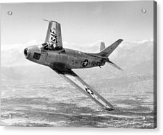 Acrylic Print featuring the photograph F-86 Sabre, First Swept-wing Fighter by Science Source