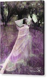 Fairy In The Orchard Acrylic Print by Angel  Tarantella