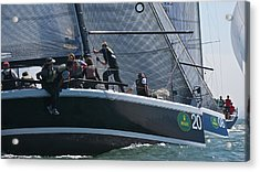 Farr 40 Action Acrylic Print by Steven Lapkin