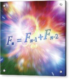 Fibonacci Sequence Equation Acrylic Print by Alfred Pasieka