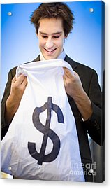 Financial Reward Of Business Success Acrylic Print by Jorgo Photography - Wall Art Gallery