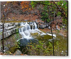 Finger Lakes Waterfall Acrylic Print by Frozen in Time Fine Art Photography