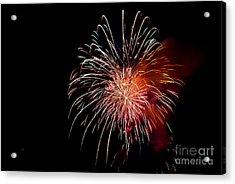 Fireworks Acrylic Print by Grace Grogan