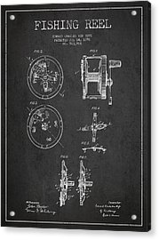 Fishing Reel Patent From 1896 Acrylic Print by Aged Pixel