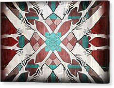 Flaghand Acrylic Print by Stacey Clarke