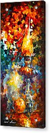 Flame Acrylic Print by Leonid Afremov