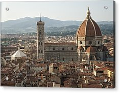 Florence Cathedral And Brunelleschi's Dome Acrylic Print by Melany Sarafis