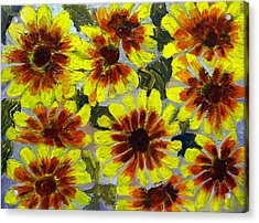 Flowers Acrylic Print by Don Thibodeaux