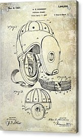 Football Helmet Patent Acrylic Print by Jon Neidert