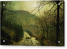 Forge Valley Acrylic Print by John Atkinson Grimshaw