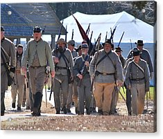 Confederate Army At Fort Anderson  Acrylic Print by Jocelyn Stephenson