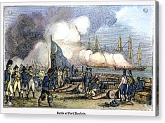 Fort Moultrie Battle, 1776 Acrylic Print by Granger