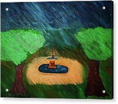 Fountain In The Midst Acrylic Print by Bamhs Blair