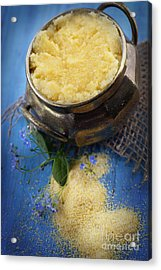 Fresh Corn Meal Acrylic Print by Mythja  Photography