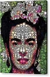 Frida Kahlo Art - Define Beauty Acrylic Print by Sharon Cummings