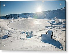 Frozen Tarn Acrylic Print by Ashley Cooper