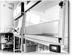 Fume Cupboard Safety Testing Acrylic Print by Crown Copyright/health & Safety Laboratory Science Photo Library