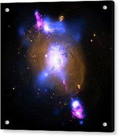Galaxy And Supermassive Black Hole Acrylic Print by Nasa