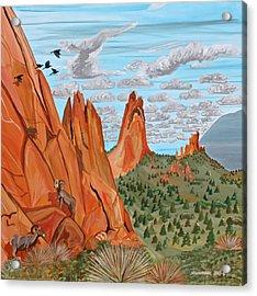 Garden Of The Gods Acrylic Print by Mike Nahorniak