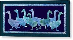 Geese Batik Acrylic Print by Jenny Armitage
