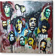 Genre Greats Acrylic Print by Matt Burke