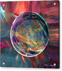 Ghosting Psychedelic Lace Acrylic Print by Robin Moline