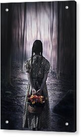 Girl In The Woods Acrylic Print by Joana Kruse