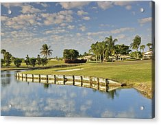 Golf Course Acrylic Print by M Cohen
