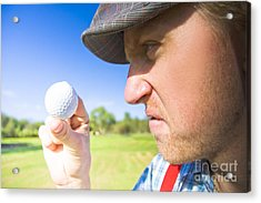 Golf Mid Game Crisis Acrylic Print by Jorgo Photography - Wall Art Gallery