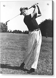 Golfer Sam Snead Acrylic Print by Underwood Archives