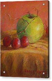 Green Apple Acrylic Print by Nancy Stutes