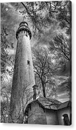 Grosse Point Lighthouse Acrylic Print by Scott Norris