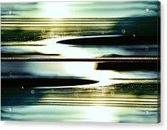 Guitar Galaxy Acrylic Print by Laura Fasulo