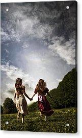Hand In Hand Through Life Acrylic Print by Joana Kruse