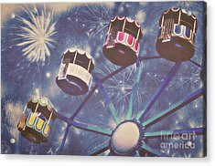 Happy New Year Acrylic Print by Angela Doelling AD DESIGN Photo and PhotoArt