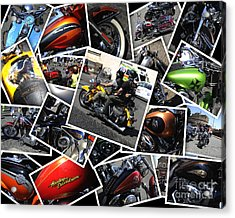 Harley Davidson Anniversary In Rome Acrylic Print by Stefano Senise